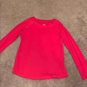 Red Long Sleeve Plain Shirt